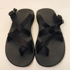 89db9182ff69 Chaco Men s Black Open Back Sandals Size 11 EUC
